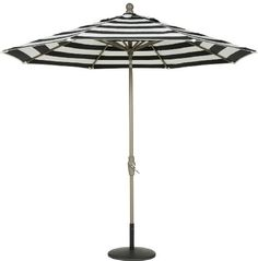 Secret Garden 9 Ft Sunbrella® Steel Cord Auto Crank Tilt Market Umbrella  with Collar ROTATE