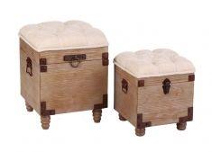 Set di 2 Cassapanche di Legno : Collezione COIMBRA