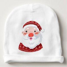 Claus saint baby beanie - accessories accessory gift idea stylish unique custom