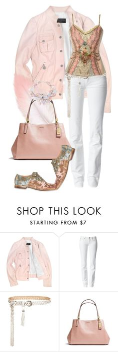 """""""Madison"""" by bren-johnson ❤ liked on Polyvore featuring Forzieri, 7 For All Mankind, Coach, NOVICA and Michal Negrin"""