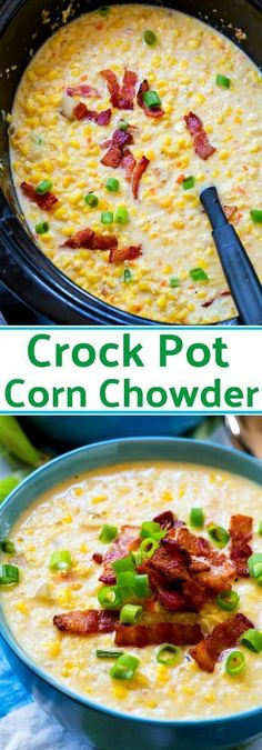Crock Pot Corn Chowder Crock Pot Corn Chowder,Crockpot Recipes Crock Pot Corn Chowder pot meals dinner recipes for family recipes pot recipes easy cooker recipes Slow Cooker Corn Chowder, Crock Pot Slow Cooker, Crock Pot Cooking, Slow Cooker Recipes, Cooking Recipes, Crockpot Meals, Chowder Soup, Chowder Recipes, Easy Soup Recipes