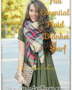 Get ready for the Fall 2016/2017 ! The essentials are here . The plaid blanket scarf in over 27 colors available can be worn with over 20 ways to wear the best gift for yourself or your love ones 🌺🌺🍁🍁🎃🎃 ...... #liketkit #firstdayoffall #fallstyle #fallfashion #whatiwore #plaidscarf #blanketscarf #blanketscarves #fallessentials #fallaccessory #plaidblanketscarf #winterscarf #zarastylescarf #zarascarf #fashionscarf #christmasgift #bridesmaidgift #giftforher #scarf #fall2016 #winter2016…