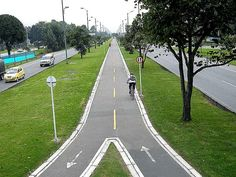 The Cicloruta (cycle path network) was a key component of the transformation of Bogotà's civic infrastructure under mayor Enrique Peñalosa (1998-2001). Click image to tweet and visit the slowottawa.ca boards >> https://www.pinterest.com/slowottawa/