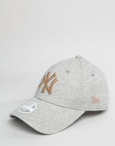 8b7e74ace3f New Era 9Forty Cap in Gray Marl with Gold Embroidery