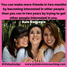 #lifebydesign  www.juliebrowncoaching.com