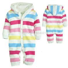 2014 New winter fashion newborn girls 100%Cotton brand rompers jumpsuit baby white stripe overalls high quality infant outfits  $32.69