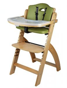 Abiie Beyond Wooden High Chair With Tray. The Perfect Adjustable Baby Highchair Solution For Your Babies and Toddlers or as a Dining Chair. Months up to 250 Lb) (Natural Wood - Olive Cushion) Price Best Baby High Chair, Best High Chairs, Toddler Chair, Baby Chair, Wood High Chairs, Modern High Chair, Cute Desk Chair, Green Cushions, Chair Cushions