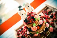 Bruidstaart naked cake bohemian style