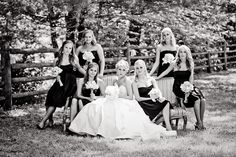 Love the black & White and the antique couch or in the bridal suite before the wedding