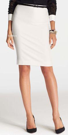 Ann Taylor Crepe Pencil Skirt