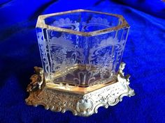 Germany Sterling and Etched Glass