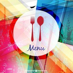 Ресторан вектор меню иллюстрации Бесплатные векторы