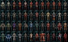 What's your favorite Iron Man armor? Iron Man Wallpaper, Marvel Wallpaper, Marvel Art, Marvel Heroes, Mcu Marvel, Iron Man All Armors, All Iron Man Suits, Marvel Universe Characters, Iron Man Art