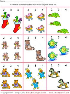 For L - Count and Circle Numbers, Set 10 - 8 free worksheets