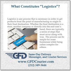 Logistics is any process that is necessary in order to get products from the point of manufacturing or origin to their final destination.  Whether the final destination is a store, another company or directly into the end-user's hand, there are typically a series of steps that must occur along with way.  The process can be simple for some businesses while being rather complex for others, and what this overall process entails will differ based on many different factors.  #logistics may ...