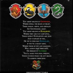 The sorting hat song.