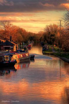 Shropshire Union Canal at Norbury Junction, Staffordshire, England, UK