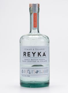 packaging for small-batch Icelandic vodka, Reyka, redesigned by a British studio, Here Design
