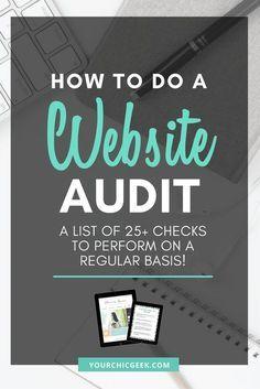 The Ultimate Website Audit Checklist: 25 Essential Checks to Perform Marketing Digital, Online Marketing, Content Marketing, Business Tips, Online Business, Web Design Tips, Ux Design, Website Maintenance, Blogging For Beginners