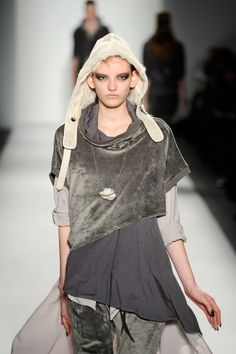 Cozy up with Nicholas K Fall 2013 #MBFW  Like the layered top.