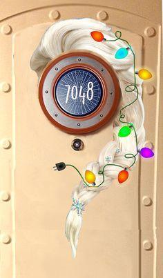 CHRISTMAS Elsa Download now: Disney Cruise Door Magnet