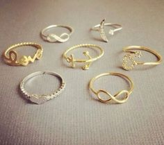 All these thin pretty rings!