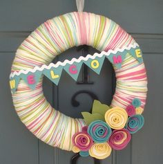 Welcome in spring with this wreath