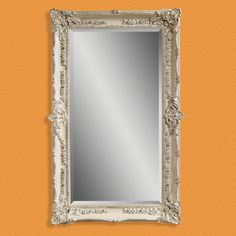 Have to have it. Antique White Wall / Leaning Floor Mirror - 43W x 69H in. - $574 @hayneedle