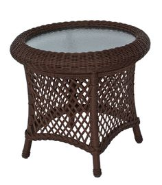 Charmant Round Wicker End Table   Decor IdeasDecor Ideas