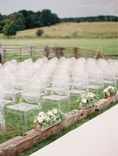 Love this wedding trend - Clear wedding ghost chairs