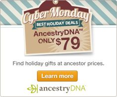 Olive Tree Genealogy Blog: Genealogy Specials for Cyber Monday