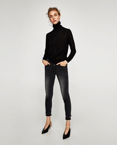 Image 1 of MID RISE DISTRESSED JEANS from Zara