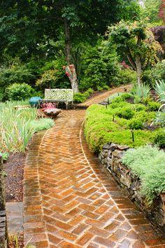Herringbone brick path | by KarlGercens.com GARDEN LECTURES