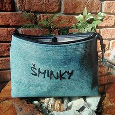 Recy kozmetická taška s džínsoviny / Maryval - SAShE. Chanel, Tote Bag, Handmade, Bags, Fashion, Handbags, Moda, Hand Made, Fashion Styles
