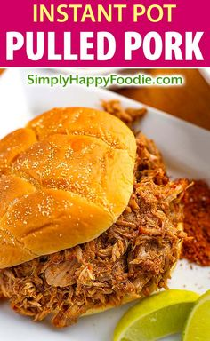 Instant Pot Pulled Pork is super tender and delicious. Pressure cooker pulled pork can be used for pulled pork sandwiches, tacos, over rice, or potatoes. Pulled Pork Tacos, Pulled Pork Recipes, Meat Cooking Times, Cooking Recipes, Cooking Bread, Cooking Fish, Cooking Games, Instant Pot Pressure Cooker, Pressure Cooker Recipes
