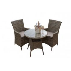 milan light bistro set available from maze rattan garden furniture dubai - Garden Furniture Dubai