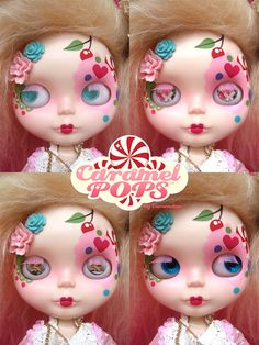 https://flic.kr/p/9DXwYP | CaramelPOPS Cotton Candy! (Eye chips) | My very 1st custom Blythe dolly! She was once a simply mango, dismantled her and gave her