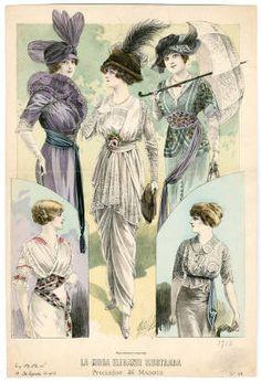1910-1913, Plate 113 :: Costume Institute Fashion Plates