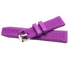 22mm Fresh Violet Silicon Jelly Rubber Unisex Watch Band Straps WB1051S22JB