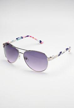 Plus Size Floral Aviator Sunglasses | Plus Size New Arrivals | Avenue