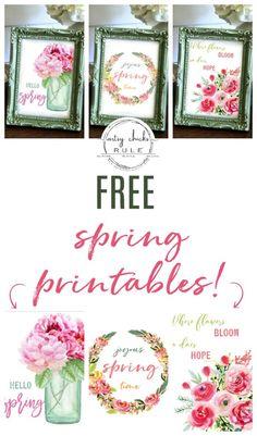 Floral Printables For Spring (free download!) - Artsy Chicks Rule®