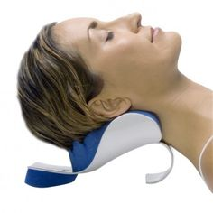 This is like a BAPS board for deep cervical muscles- great for improving functional lordosis after whiplash injuries, improving stability and strengthening deep cervical neck flexors! Plus it is so relaxing... It is called Doctor Riters real ease --