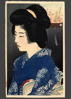 ArtistShinsui Ito   (1898-1972)    View Artist Bio  Series New 12 Images of Beauties  Title Singing of insects  Date Of Work 1923  Publisher Watanabe  Dimensions 17 x 10.25