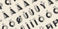 Fancy Antique Display features the perfect mix of solids and stripes. Designed byMorten Iveland, the font wasinspired by French decorative alphabets from the 1940's and 1950's. Pick it up at MyFonts.