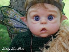 "L.E. ""Ofelia"" reborn elf/pixie/fairy-Olga Auer by Lullaby Lane Studio"