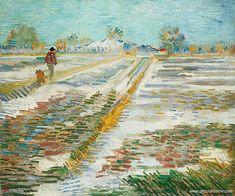 Vincent van gogh - paysage enneigé