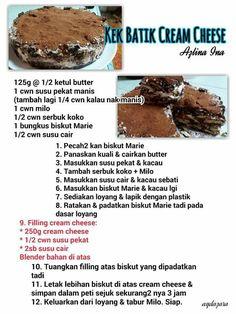 Kek batik cream cheese
