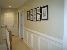 Contemporary Hallway With Wainscoting Ideas Bathrooms With Beadboard Wainscoating Wainscoting Bathroom Wainscoting Height Half Wall Paneling Bathroom Beadboard Wainscot Painting Wainscoting Height, Black Wainscoting, Wainscoting Nursery, Wainscoting Kitchen, Painted Wainscoting, Dining Room Wainscoting, Wainscoting Styles, Wainscoting Panels, Bathroom Beadboard