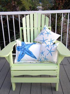 Little sea stars starfish pair of indoor outdoor by crabbychris, $48.00