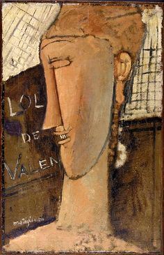 Lola de Valence by Amedeo Modigliani, Modern and Contemporary Art Medium: Oil on paper, mounted on wood Bequest of Miss Adelaide Milton de Groot 1967 Metropolitan Museum of Art, New York, NY Amedeo Modigliani, Modigliani Paintings, Oil Paintings, Karl Schmidt Rottluff, Emil Nolde, Atelier D Art, Italian Painters, Paul Cezanne, Famous Artists